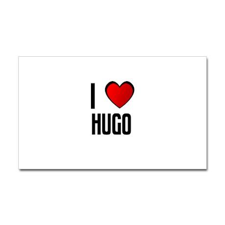 i_love_hugo_rectangle_sticker