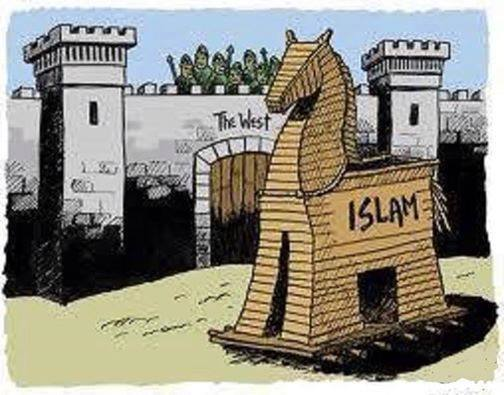 Image result for pictures of the islam's trojan horse